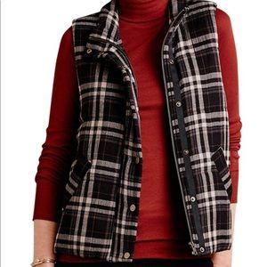 Anthropologie Jackets & Coats - Anthropologie Hei Hei Quincy Plaid Vest in Black